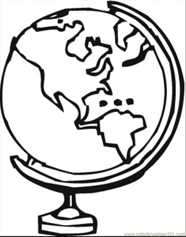 Globe Coloring Page Free Astronomy Coloring Pages
