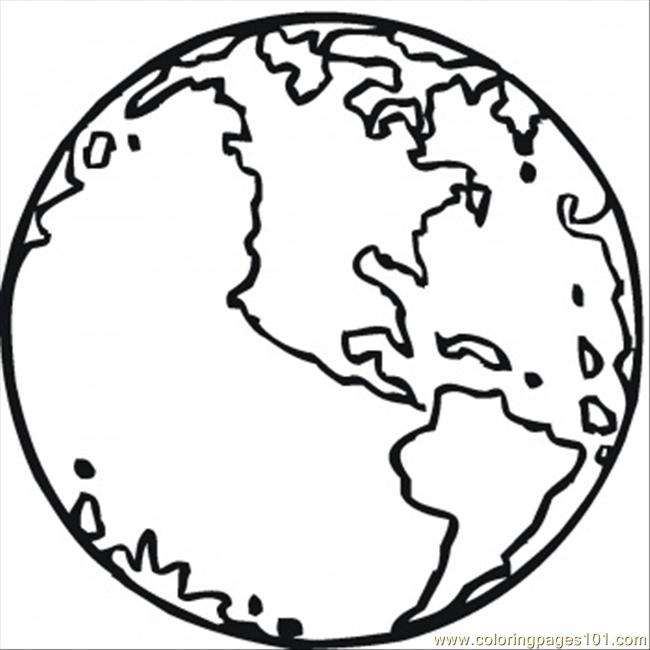 Our Planet Earth Coloring Page