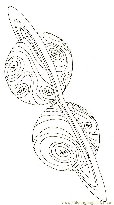 Planet The Jewels Coloring Page