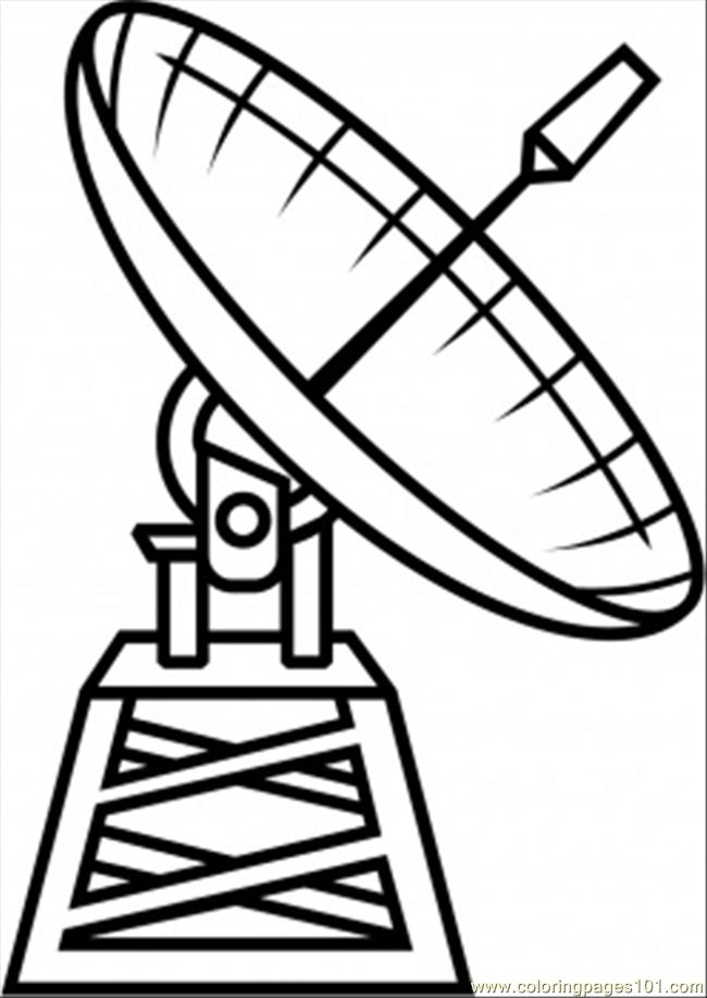 Satellite Coloring Page Free Astronomy Coloring Pages