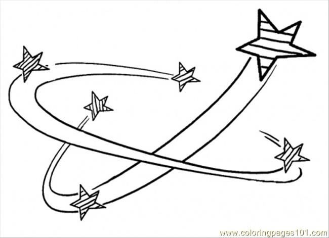 stars in the space coloring page