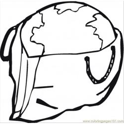 Earth In A Bag Free Coloring Page for Kids