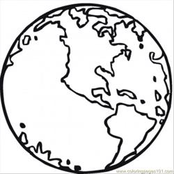 Our Planet Earth Free Coloring Page for Kids