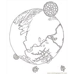 Planet Teep Reversed Free Coloring Page for Kids