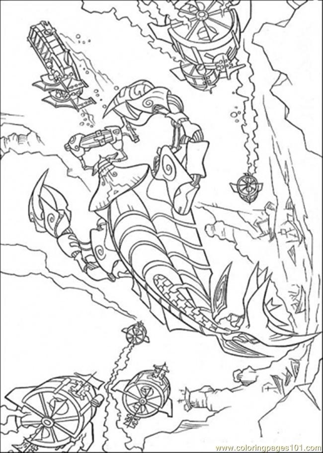Atlantis Action 11 Coloring Page