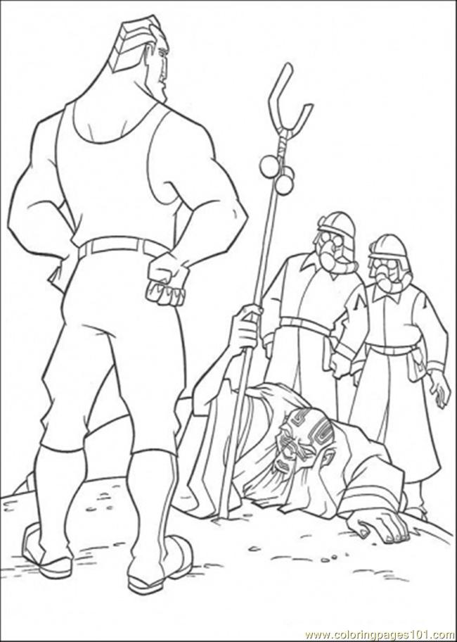 Atlantis Action 3 Coloring Page