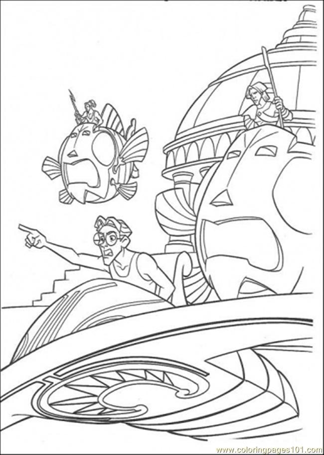 Atlantis Action 5 Coloring Page