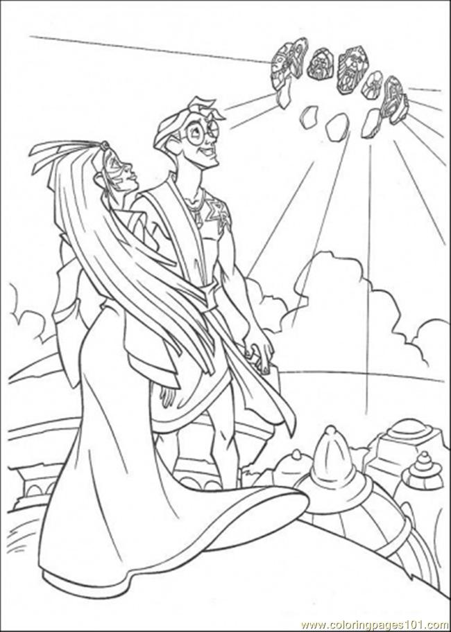 Atlantis Action 6 Coloring Page