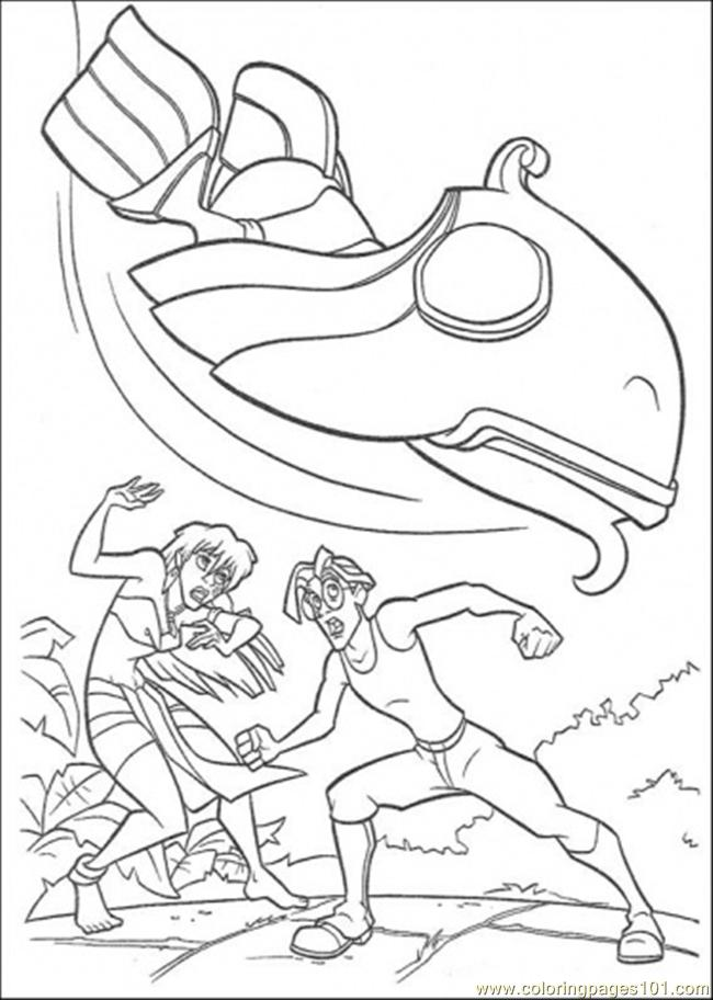Atlantis Action 8 Coloring Page