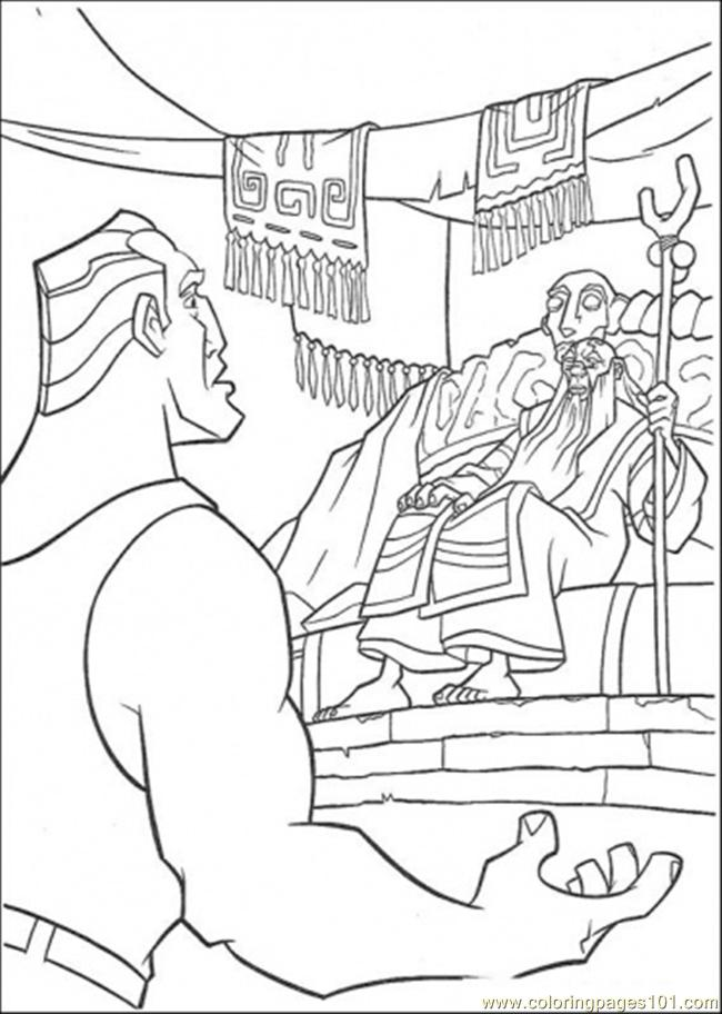 Atlantis Friend Meet The King Coloring Page