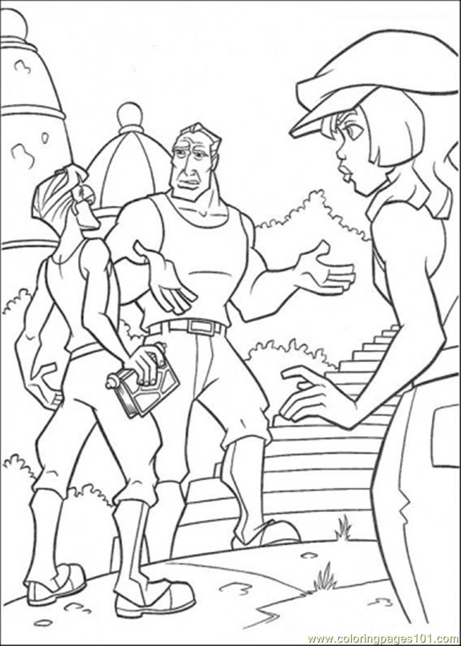 Atlantis Friends Discuss Together Coloring Page