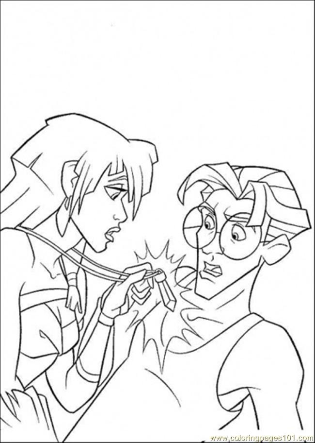 Atlantis Friends Show The Necklace Coloring Page