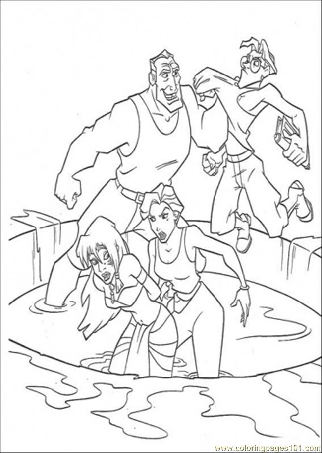 Captured By The Enemy Coloring Page