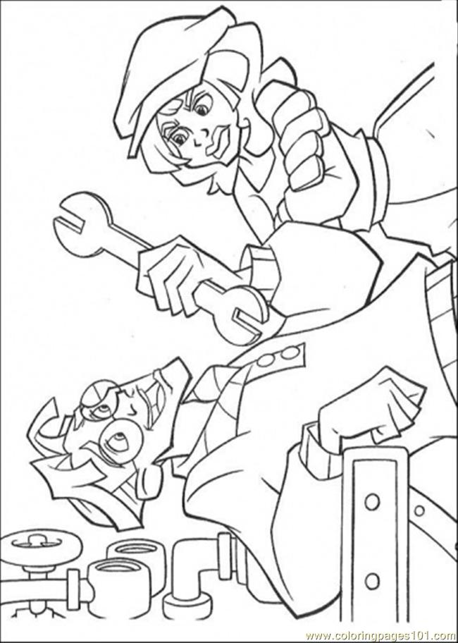 Fixing The Machine Coloring Page