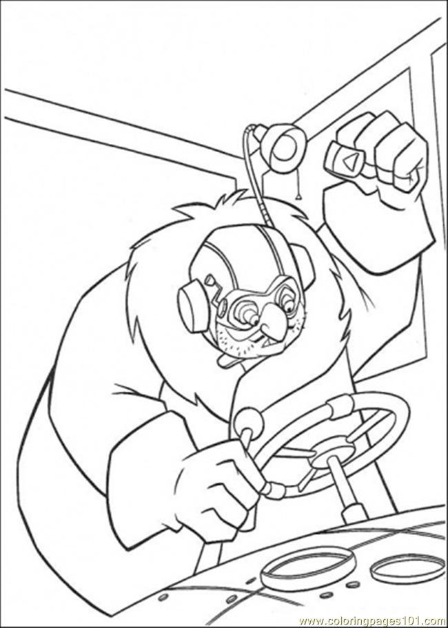 He Holds The Wheel Coloring Page