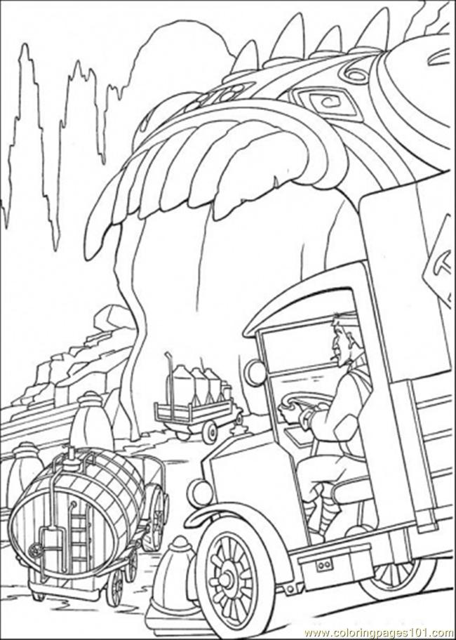 He Rideshis Vehicle Coloring Page