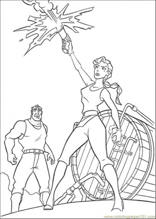 She Shoots To The Sky Coloring Page