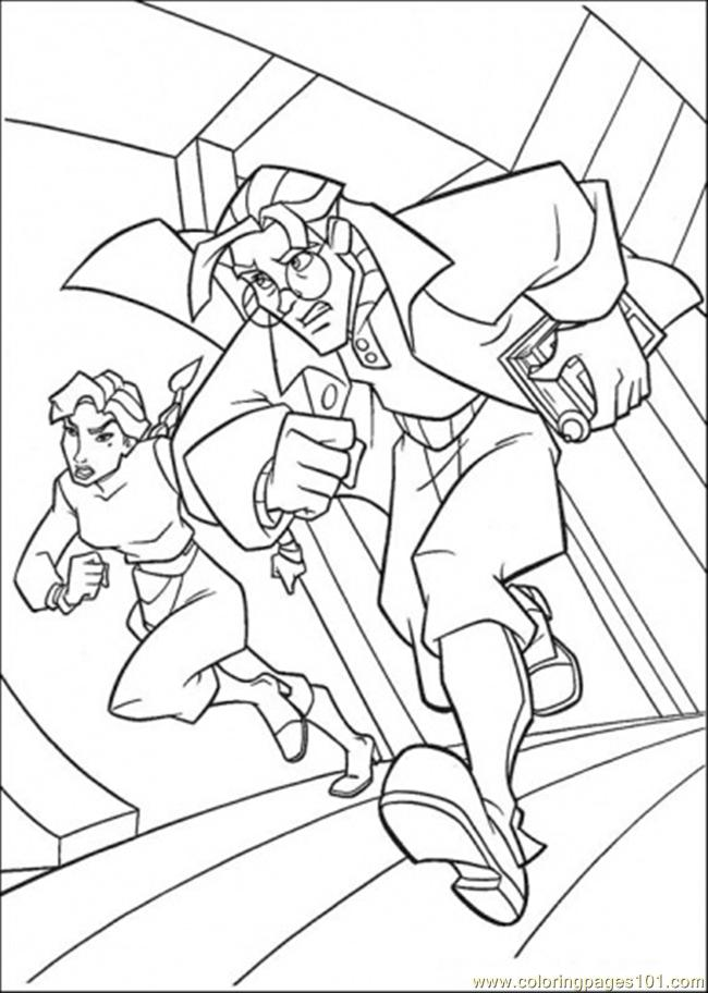 The Boy And The Girl Run Coloring Page