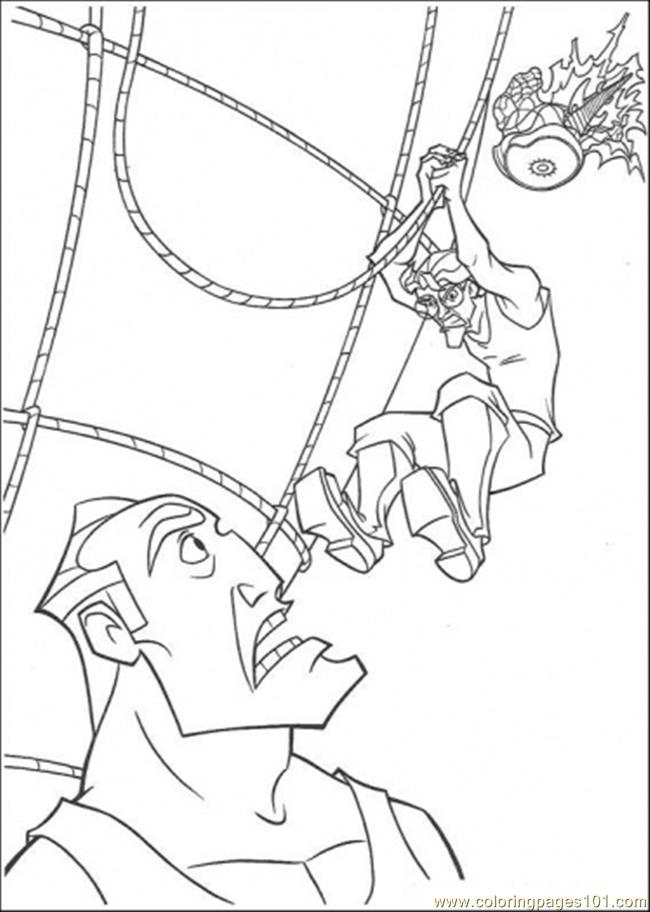 The Boys Tries To Kick The Enemy Coloring Page