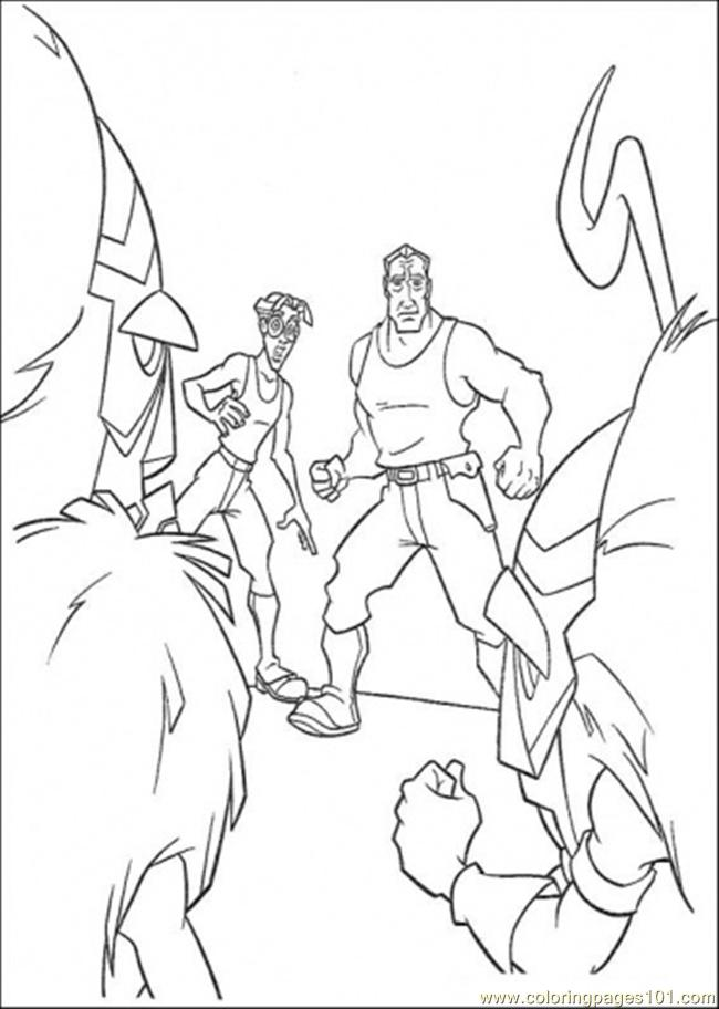 They Are Ready To Fight Coloring Page