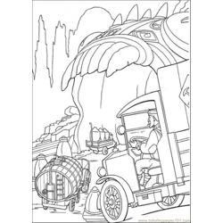He Rideshis Vehicle Free Coloring Page for Kids
