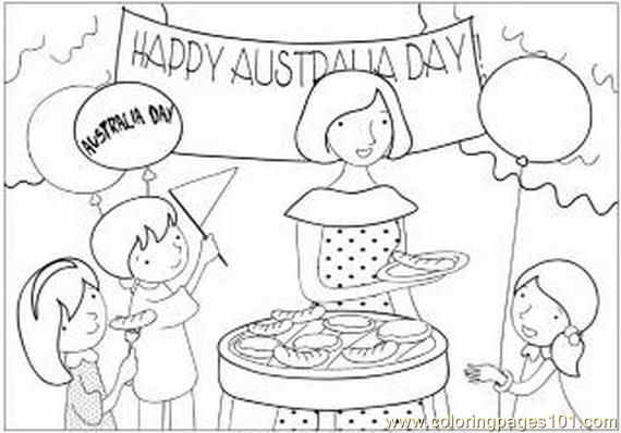 Happy Australia Day Coloring Page Free Australia Coloring Pages