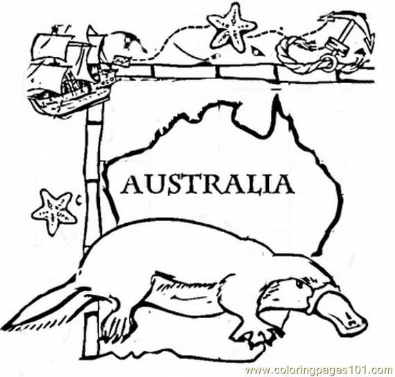 Australian Coloring Pages Australia Animal Page Free