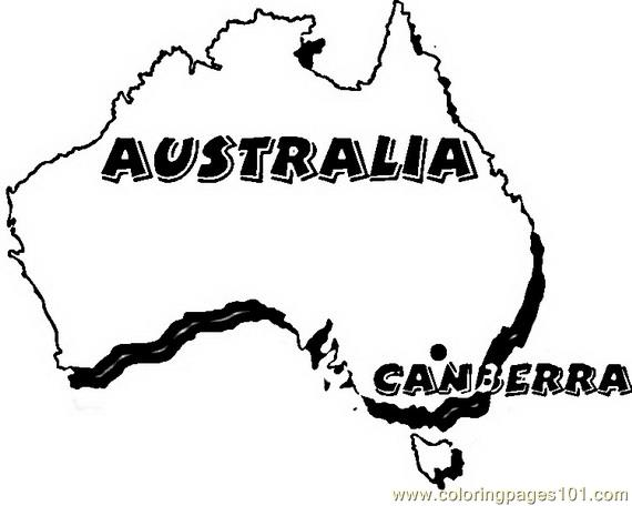 Australia canberra Coloring Page