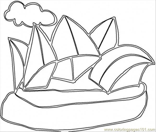 Opera In Sydney Coloring Page