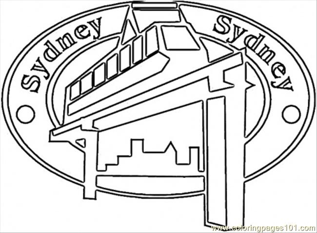Sydney Coloring Page