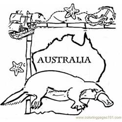 Australia animal coloring page