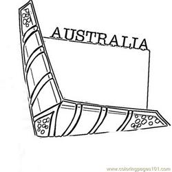 Australia  Free Coloring Page for Kids