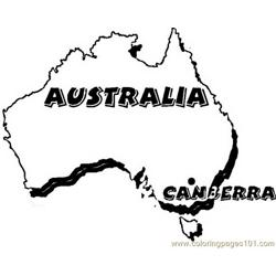 Australia canberra Free Coloring Page for Kids