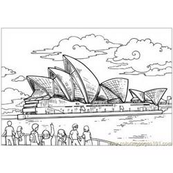 Australian viewers Free Coloring Page for Kids