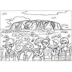 Australia people Free Coloring Page for Kids