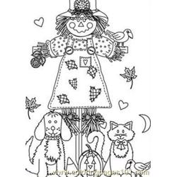 Autumn animal Free Coloring Page for Kids