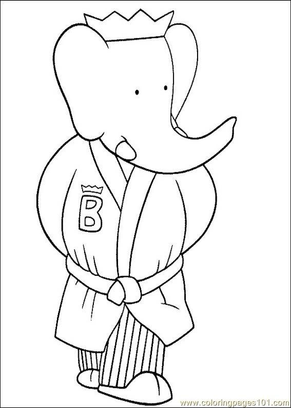 Babar Coloring Pages 017