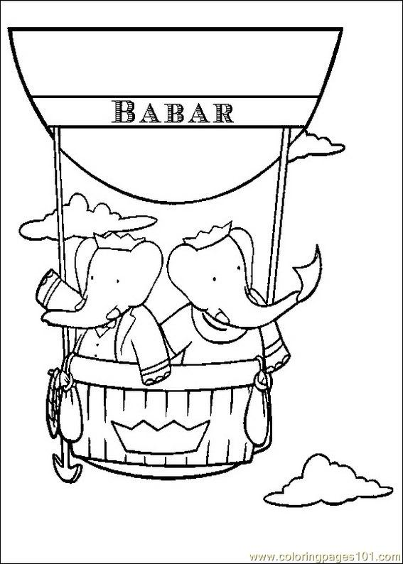 Babar Coloring Pages 026 Coloring Page