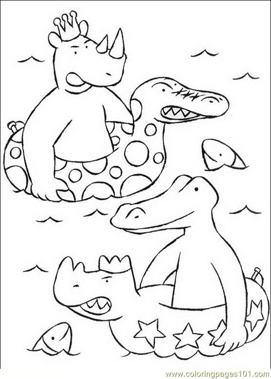 Babar 16 Coloring Page