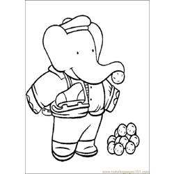 Babar Coloring Pages 002