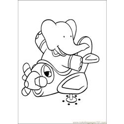 Babar Coloring Pages 005