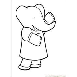 Babar Coloring Pages 012