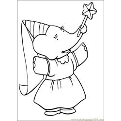 Babar Coloring Pages 020