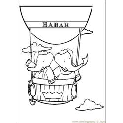 Babar Coloring Pages 026