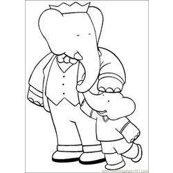 Babar Coloring Pages 028