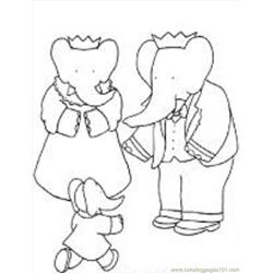 Babar2 M coloring page