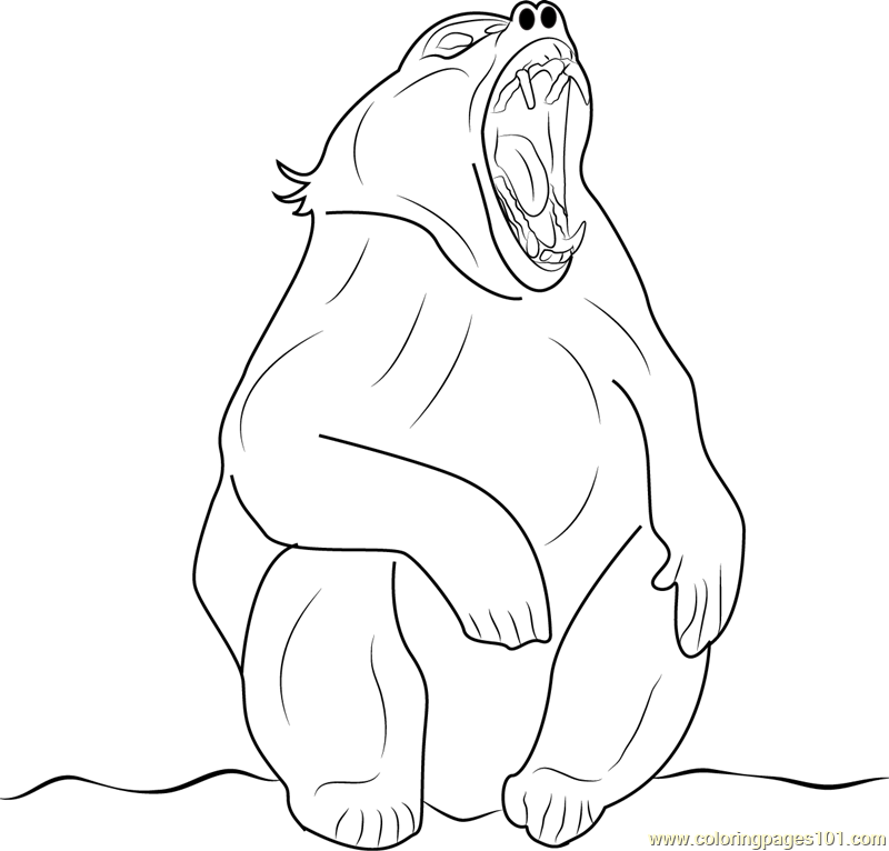 Angry Baboon Coloring Page Free Baboon Coloring Pages
