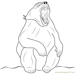 Angry Baboon Free Coloring Page for Kids