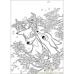 Aline And Bambi coloring page