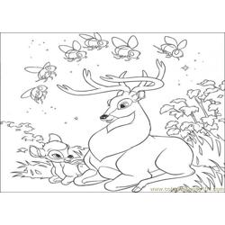 Bambi23 Free Coloring Page for Kids